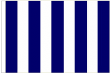 Navy Blue And White Striped 3' x 2' Medium-Sized Sleeved Flag